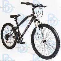 Muddyfox Prevail 24 Boys Hardtail Mountain Bike In Black And White