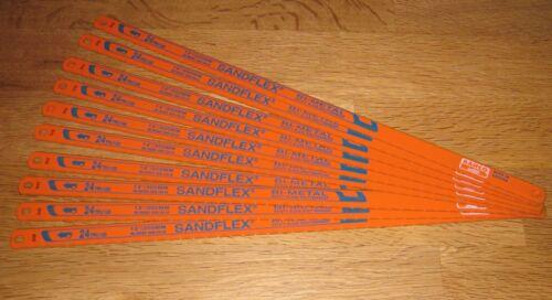 """10 x Bahco 12/"""" 300mm Bi-Metal Sandflex Hacksaw Blades 24tpi"""