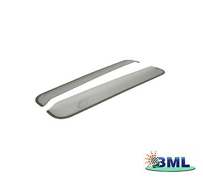 TF666 TERRAFIRMA PAIR OF FRONT WIND DEFLECTORS SMOKE FOR LAND ROVER DEFENDER