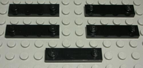 248 LEGO plaque intérieur lisse 1x4 Noir 5 pièce