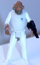 "1997 Star Wars RARE Admiral Ackbar w/comlink wrist blaster POTF 4"" ORIG. OWNER"