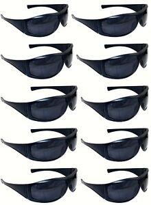 10 Pairs Of Sunglasses Blue Frame Uv400 Lens Men's Women's Retro Wrap Shades Auswahlmaterialien
