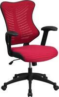 Flash Furniture Mid-back Burgundy Mesh Chair W/nylon Base Bl-zp-806-by-gg Chair