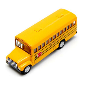 5-034-Die-Cast-NYC-School-Bus-Pull-Back-Action-and-Openable-Door-NY-School-Bus