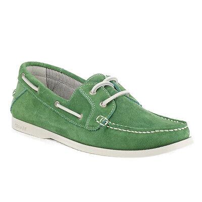 Gant Damen Segel Schuhe Dockster Green Mokassins 46.45009C036 Grün Wild Leder