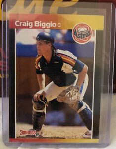 ⚾️ 1989 Donruss Craig Biggio RC #561 Error No Period After INC ⚾️