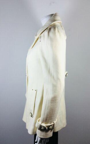 Size mouwen met Leifsdottir jas lange en Ivory 8 wollen trenchcoat 435RjLqA