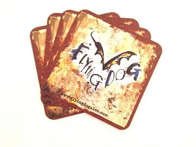 Collectable American Flying Dog Square Beer Mat / Coaster x4