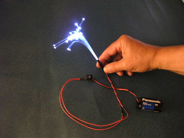 50 1 0mm Fiber Optic Model Lighting Filament Illuminator B3