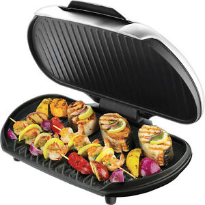 George Foreman Family Size Indoor Electric Grill, GR144 Large ...