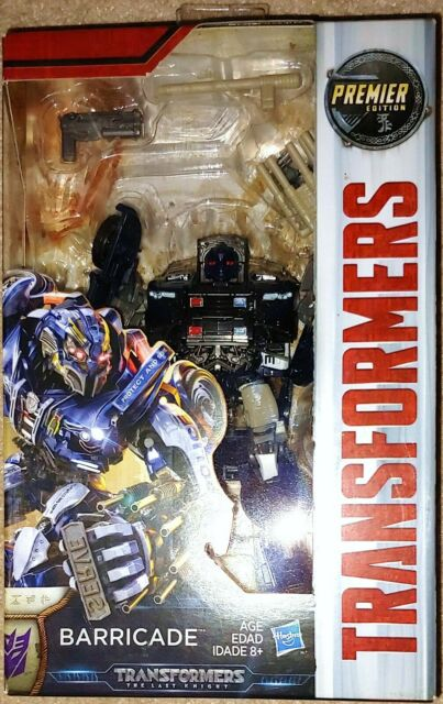 Transformers TLK The Last Knight Premier Edition Deluxe Class Barricade MISB
