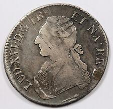 France 1786 COW 1 Ecu Silver Crown Size Coin XF Louis XVI KM#572 Bearn Mint