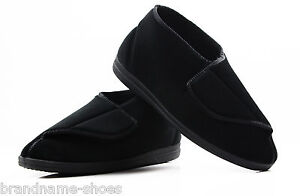NEW-MENS-GROSBY-TARQUIN-COMFORTABLE-BLACK-MOCCASINS-MEN-039-S-NIGHT-SHOES-SLIPPERS