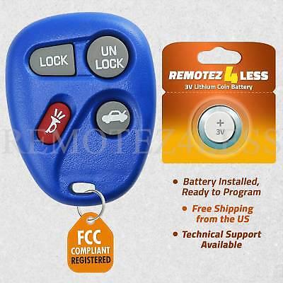 2 For 2000 Chevrolet Impala Keyless Entry Remote Car Key Fob Blue