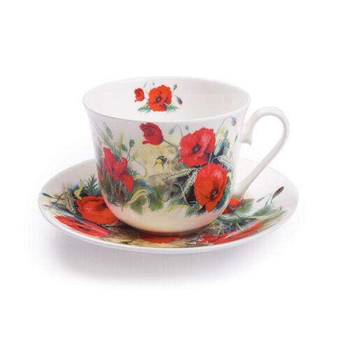 Roy Kirkham petit déjeuner tasse et soucoupe Poppy Fleurs Thé Boissons maison salle à manger