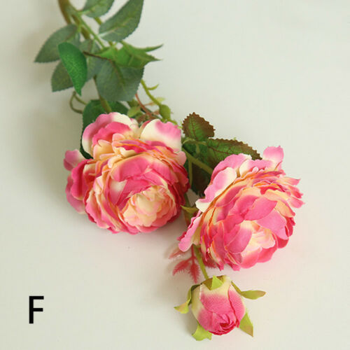 Artificial Fake Silk Rose Flower Bouquet Floral Wedding Party Home Decor