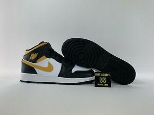 Nike Air Jordan 1 Mid (GS) - White Pollen Black - NEU - 554725-177