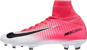 best website 118d8 cdee1 Details about Nike JR Mercurial Superfly V FG Youth Soccer Cleat Pink-White  4 Y, 831943-601
