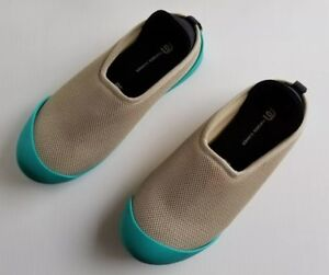 f093171786af Mahabis Summer Slippers Beige with Teal Rubber Soles Womens 7.5 EU ...