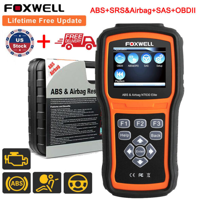 Foxwell Nt630 Pro ABS SRS Airbag Reset OBDII Code Reader Diagnostic Scanner  Tool