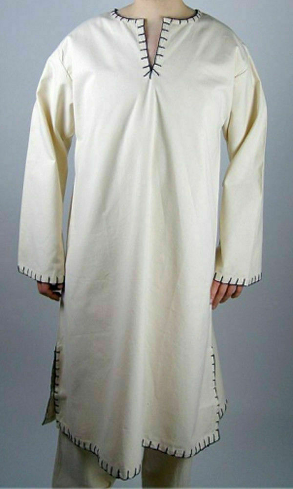 Medieval & Renaissance Costume White Color Tunic For Armor Reenactment Theater