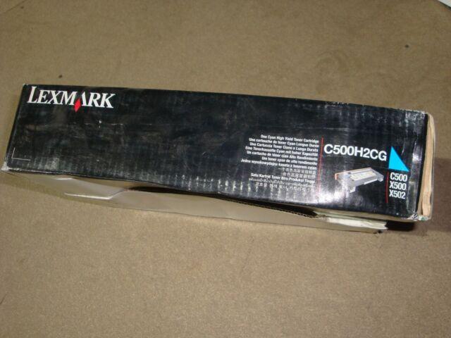 Genuine Lexmark Cyan Toner Cartridge (C500H2CG), High Yield