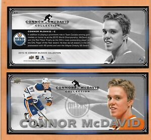 CONNOR McDAVID UPPER DECK 2015-2016 JUMBO ROOKIE CARD # C-1