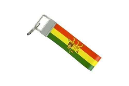Keychain stripe key lanyard flag keyring ring car remote ethiopia lion rasta