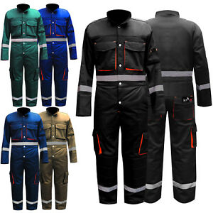enjoy free shipping customers first best collection Details about Mens Boiler Suit Overalls Work Wear Mechanics Suit Knee  Padded Coverall