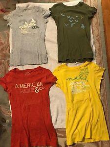 da donna American Small Camicie 4 usate Eagle corte a Size maniche Small q4wg7