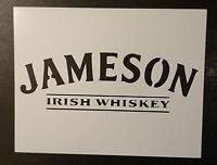 Jameson Irish Whiskey 11 X 8.5 Custom Stencil Fast Free Shipping