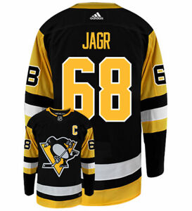 Jaromir-Jagr-Pittsburgh-Penguins-Adidas-Authentic-Home-NHL-Vintage-Hockey-Jersey