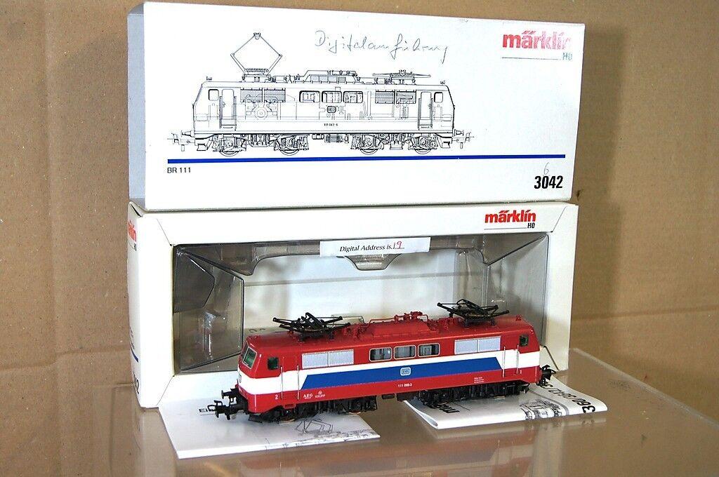 Marklin Märklin 3042 Neu Gestrichen Digital DB Br 111 E-Lok Lokomotive 068-3 Nc