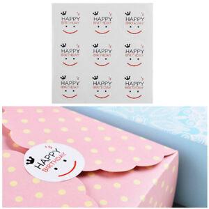 90pcs-Happy-Birthday-Sticker-Smile-Face-DIY-Sticker-For-Gift-Baking-Seal-Sticker
