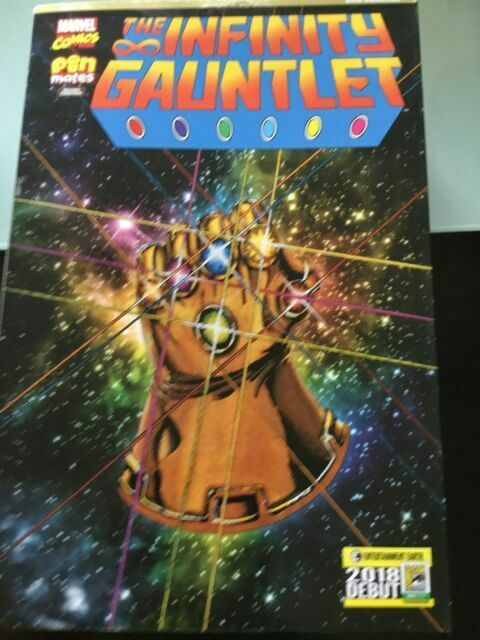 Convention Exclusive Infinity Gauntlet Pin Mates Wooden Collectibles Set of 16