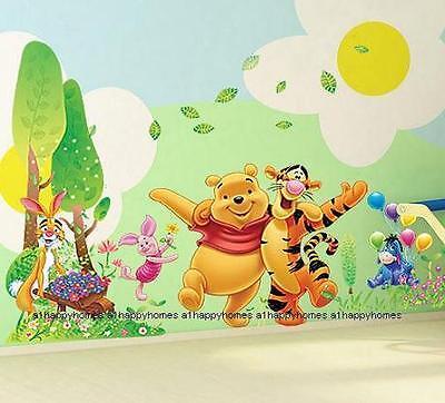 HUGE WINNIE THE POOH Trees Hugging Tiger Wall Stickers Kids Baby Nursery Decor
