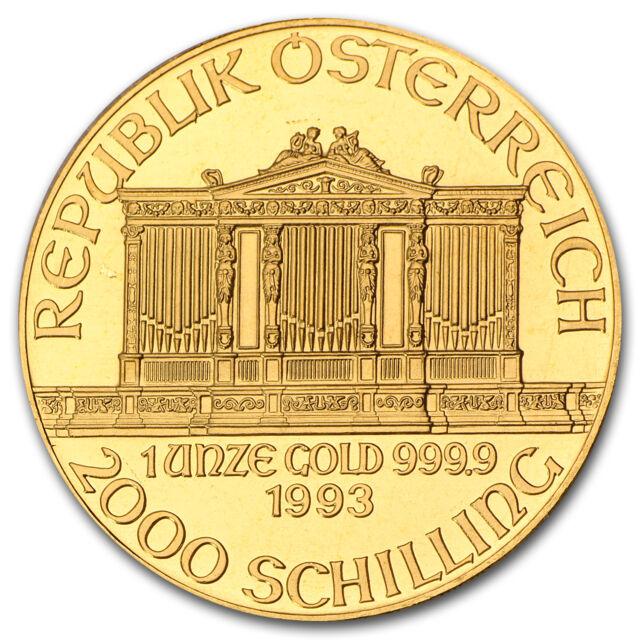 1993 Austria 1 oz Gold Philharmonic BU - SKU #74665