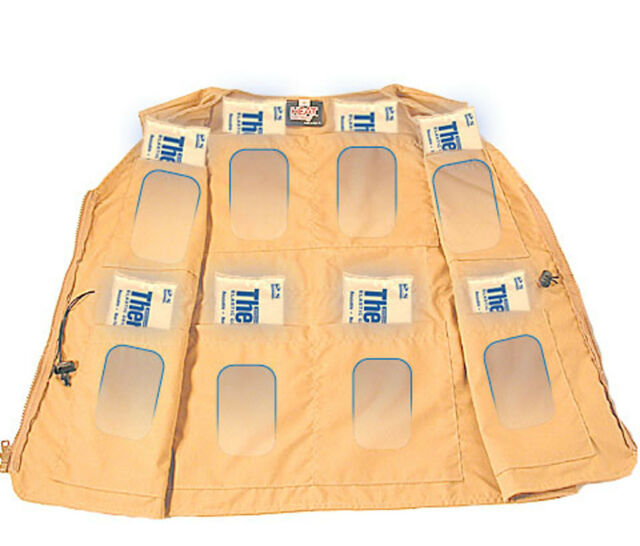 Cooling Vest 8 pockets to hold Cold Packs MADE IN USA