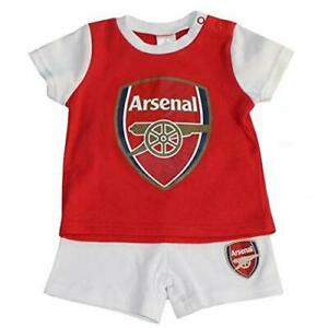 info for 9e594 1c898 Details about Arsenal FC Official Football Home Kit Children Baby Pyjamas  Shirt Shorts Set