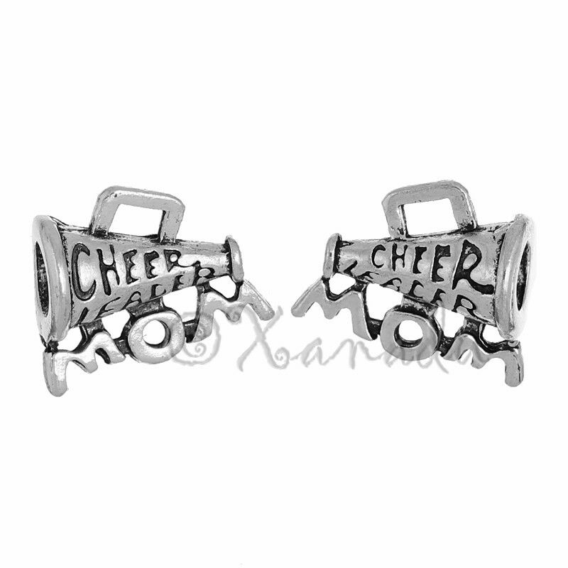 20PCs Cheerleader Mom Bullhorn 17mm Antiqued Silver Plated Charms C2872-5 10