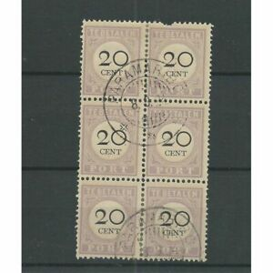 Suriname-P12-blok-6-Type-I-en-III-VFU-gebr-CV-20-PRACHT