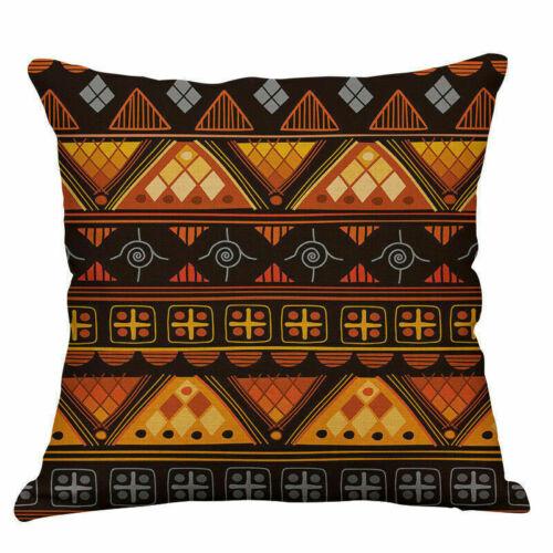 Home Decoration Pillow Case Cotton Linen Sofa Cushion Cover office Leaf Stripe