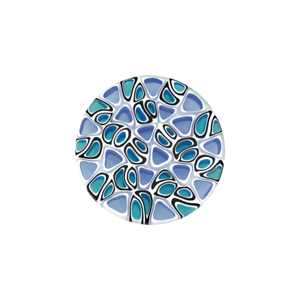 Coin CS013 der Firma CEM für 25 mm Anhänger Muranoglas blau