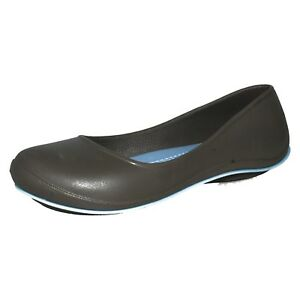 98df71059 Details about £7.99 LADIES CROCS TONE JULIA FLAT SLIP ON BALLERINA CASUAL  SUMMER SHOES UK 3