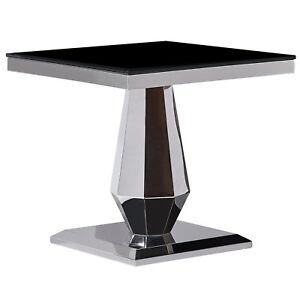 Edelstahl Kaffetisch Beistelltisch Tisch Konsolentisch Glas