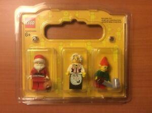LEGO CHRISTMAS MINIFIGURES SANTA MRS.CLAUS AND ELF W// ACCESSORIES u pick