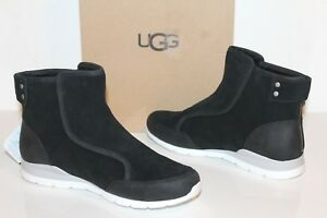 5c913b946f1 Details about UGG 1013034 BK 10 Women Laurelle Leather Ankle Sheepskin  Boots Black 10