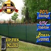 Free Zip Ties Privacy Screen Fence Windscreen Outdoor 4' 5' 6' 8' 50' Mesh Shade