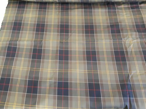 3x meters WATERPROOF RUBBER BACKED SOFT CHECK FABRIC HIGH QUALITY 150CM WIDE ~