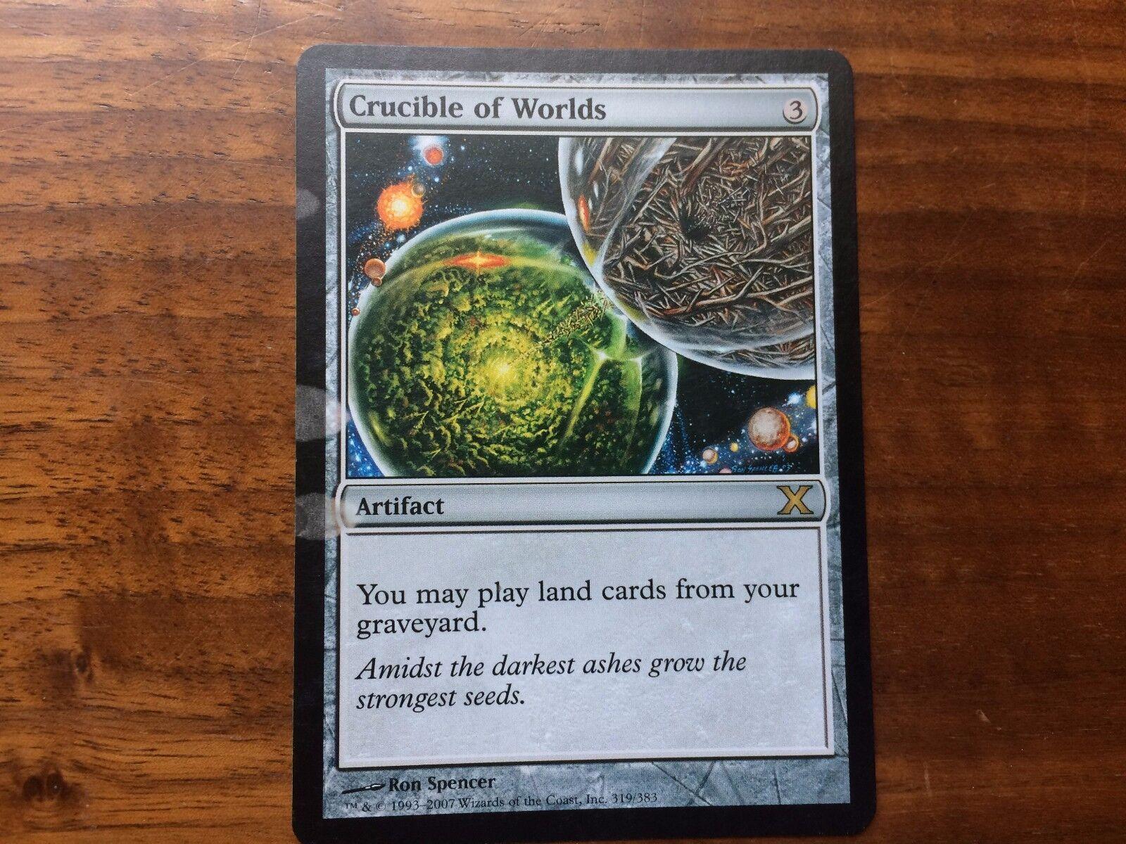 Druckfehler schmelztiegel von welten zehnte ausgabe tinte flecken mtg magische karte   3